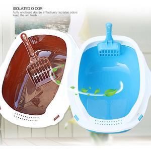 猫用 トイレ本体 トイレ容器 上から入る 猫トイレ cream トイレタリーグッズ シンプル raro