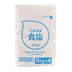 日本海水 食塩 20kg入り(5kg×4)|rasalhanut