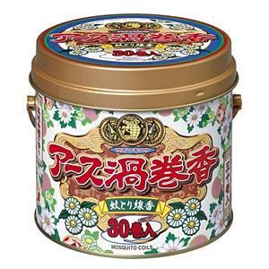 アース渦巻香 30巻缶入[蚊取り線香] rashiku-shop