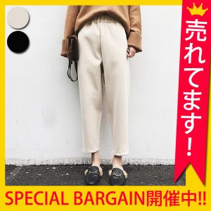 【TIME★SALE】 パンツ レディース クロップド ウエストゴム ボトムス(b134)|raspberryy