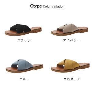 サンダル レディース 履きやすい 幅広 ぺたん...の詳細画像4