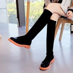 ブーツ ロング レディース シューズ おしゃれ 秋 冬 大きいサイズ 黒 ブラック 痛くない 歩きやすい ぺたんこ ^bo-618^|raspberryy