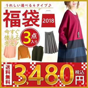 2018 福袋 【豪華3点入り】 レディース 選べる4タイプ...