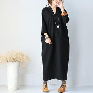 【TIME★SALE】 ワンピース マキシワンピ レディース 体型カバー ゆったり ロング丈 コクー...