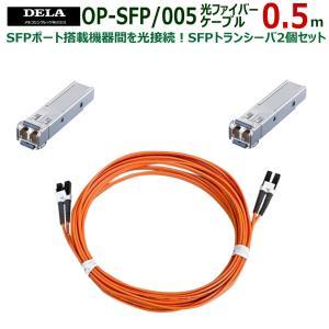 メルコシンクレッツ製 DELA SFPトランシーバ2個/光ファイバーケーブル0.5mセット OP-SFP/005|ratoc