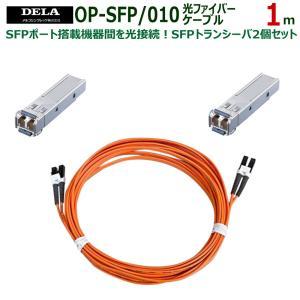 メルコシンクレッツ製 DELA SFPトランシーバ2個/光ファイバーケーブル1mセット OP-SFP/010|ratoc