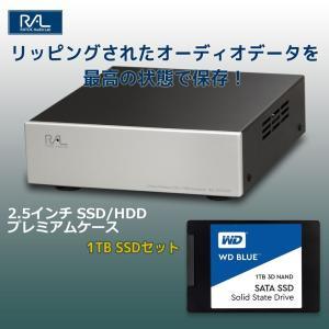 USB3.0 2.5インチ SSD / HDDプレミアムケース RAL-EC25U3P と WESTERN DIGITAL製BLUE 3D NAND SATA SSD WDS100T2B0A(1TB)セット|ratoc