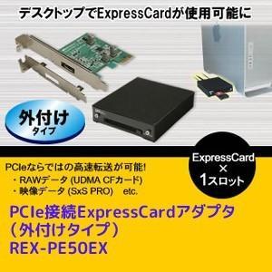 PCIe接続ExpressCardアダプタ(外付けタイプ) REX-PE50EX ratoc