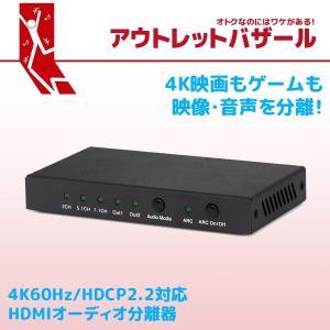 アウトレット特価 HDMIから入力した信号を映像と音声に分離 4K60Hz/HDCP2.2対応HDMIオーディオ分離器 RS-HD2HDA-4K OL|ratoc