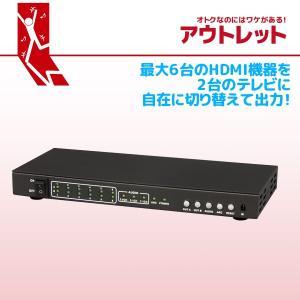 アウトレット特価 4K60Hz対応 6入力2出力 HDMIマトリックススイッチ RS-HDSW62-4K OL|ratoc
