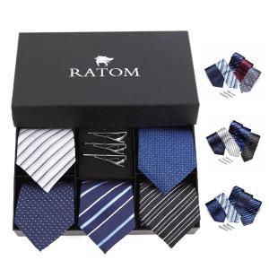 ネクタイピン ネクタイ セット タイピン ギフト おしゃれ メンズ シンプル ブランド プレゼント フォーマル 人気 おすすめ|ratom