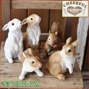 * チアフルフレンズシリーズ * うさぎのハンナ・ルナ、ウサギのミーナ・マリー、リスのリーノ。 リア...