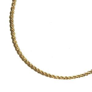 24金メッキ 1mm ロープチェーン ネックレス ゴールド メンズ/レディース/ジュエリー|rawdrip
