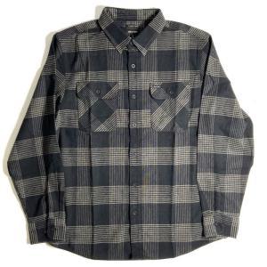 ブリクストン バワリー ロングスリーブ フランネル シャツ ブラック/スティール メンズ/長袖シャツ/チェック/ネルシャツ|rawdrip