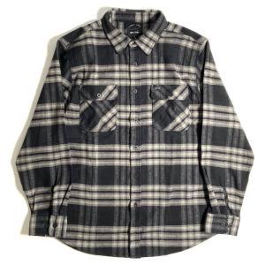 ブリクストン バワリー ロングスリーブ X フランネル シャツ ブラック/チャコール メンズ/長袖シャツ/チェック/ネルシャツ|rawdrip