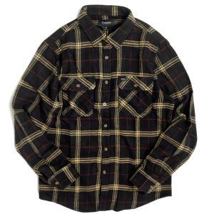 ブリクストン バワリー ロングスリーブ フランネル シャツ ブラック/アイボリー メンズ/長袖シャツ/チェック/ネルシャツ|rawdrip
