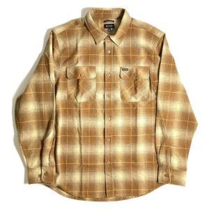 ブリクストン バワリー ロングスリーブ フランネル シャツ コッパー メンズ/長袖シャツ/チェック/ネルシャツ|rawdrip