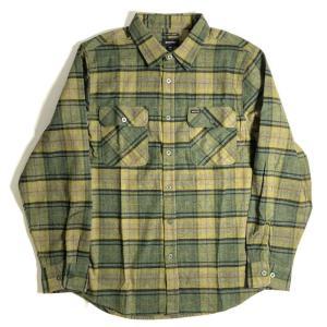 ブリクストン バワリー ロングスリーブ フランネル シャツ エバーグリーン メンズ/長袖シャツ/チェック/ネルシャツ|rawdrip
