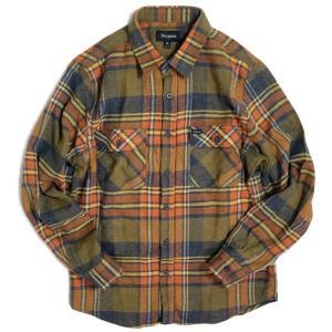 ブリクストン バワリー ロングスリーブ フランネル シャツ セージ メンズ/長袖シャツ/チェック/ネルシャツ|rawdrip
