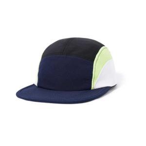 バターグッズ クレセント キャンプ キャップ ネイビー/ライム/ホワイト メンズ/帽子 rawdrip