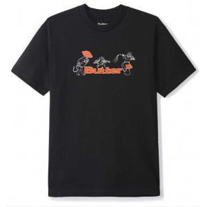 バター グッズ マッシュルームズ Tシャツ ブラック メンズ/半袖Tシャツ|rawdrip
