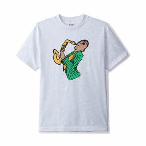 バター グッズ サックス Tシャツ アッシュグレー メンズ/半袖Tシャツ|rawdrip