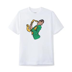 バター グッズ サックス Tシャツ ホワイト メンズ/半袖Tシャツ|rawdrip