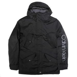 カルバン クライン CK ID フード ジャケット ブラック メンズ|rawdrip