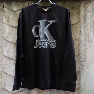 カルバン クライン ロングスリーブ Tシャツ ブラック|rawdrip