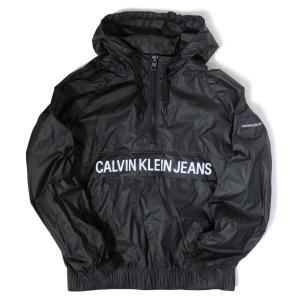 カルバン クライン ジーンズ ロゴ ウィンドブレーカー ブラック メンズ|rawdrip