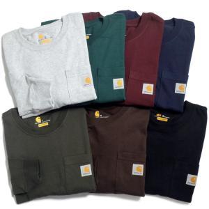 カーハート ロングスリーブ ワークウェア ポケット Tシャツ K126/全8色|rawdrip