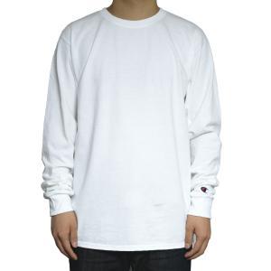 チャンピオン ワンポイント ロングスリーブ Tシャツ/全4色|rawdrip