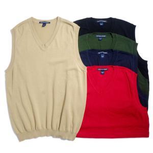 デボン & ジョーンズ Vネック ニット ベスト 全5色 メンズ/レディース/無地/レイヤード/セーター|rawdrip