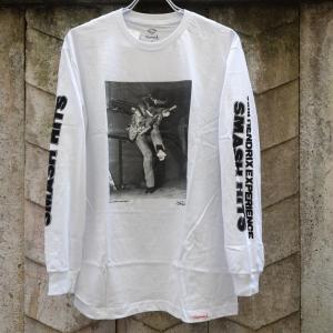 ダイアモンド サプライ co. ジミ ヘンドリックス ロングスリーブ Tシャツ ホワイト|rawdrip