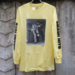 ダイアモンド サプライ co. ジミ ヘンドリックス ロングスリーブ Tシャツ イエロー|rawdrip