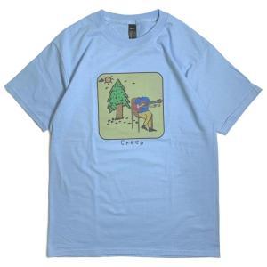 イージー クリープ Tシャツ スカイブルー メンズ/半袖Tシャツ|rawdrip