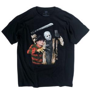 ジェイソン フレディ セルフィー Tシャツ ブラック メンズ|rawdrip
