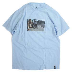 ガール スケートボード × ビースティ ボーイズ スパイク ジョーンズ Tシャツ パウダー ブルー メンズ/半袖Tシャツ|rawdrip