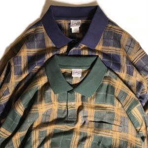 ハバンド バンデッド ボトム プレイド ロングスリーブ ポロ シャツ 全2色 メンズ/長袖ポロシャツ|rawdrip