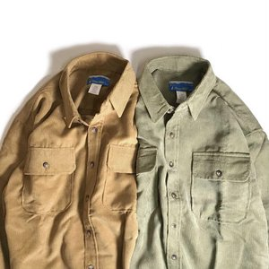 ハバンド ロングスリーブ コーデュロイ シャツ 全2色 メンズ/長袖シャツ|rawdrip