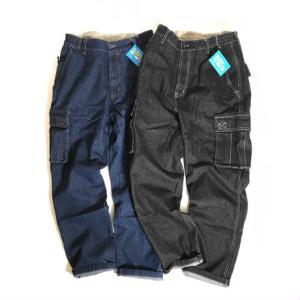 ハバンド 7ポケット デニム カーゴ パンツ 全2色 メンズ|rawdrip