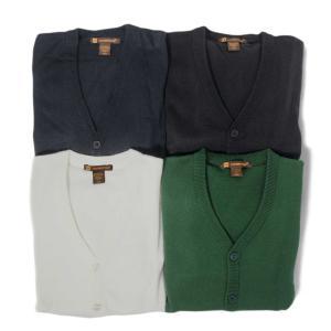 ハリトン Vネック ボタン カーディガン セーター 全3色/メンズ|rawdrip