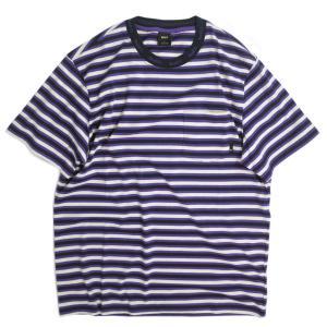 ハフ アレックス ストライプ シャツ オフ ホワイト メンズ/半袖Tシャツ|rawdrip