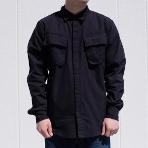 ハフ BDU ミリタリー ロングスリーブ シャツ ブラック|rawdrip
