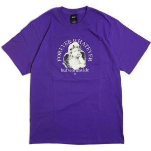 ハフ フォーエバー ワットエバー オーメン Tシャツ パープル メンズ/半袖Tシャツ|rawdrip