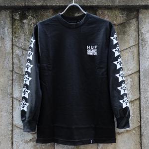 ハフ ハフ x サミー ウィンター ロングスリーブ Tシャツ ブラック|rawdrip