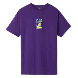 ハフ メッセド アップ バニー Tシャツ パープル メンズ/半袖Tシャツ|rawdrip