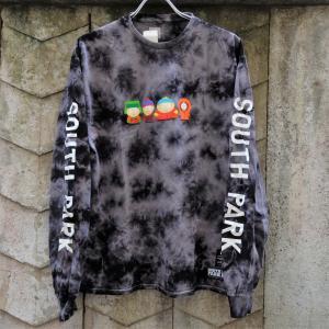 ハフ × サウス パーク クリスタル ウォッシュ ロングスリーブ Tシャツ ブラック|rawdrip