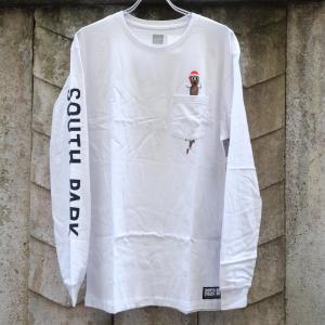 ハフ × サウス パーク ミスター ハンキー ロングスリーブ ポケット Tシャツ ホワイト|rawdrip
