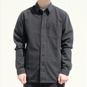 リーバイス ライン8 ロングスリーブ シャツ ブラック|rawdrip